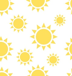 Beautiful suns seamless pattern vector image vector image