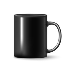 Black mug cup isolated vector image vector image