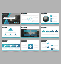 blue black abstract presentation templates vector image vector image