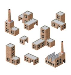 buildings of brick vector image vector image