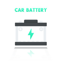Car battery accumulator icon in flat style vector