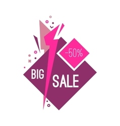 Colorful advertising flashed big sale banner vector