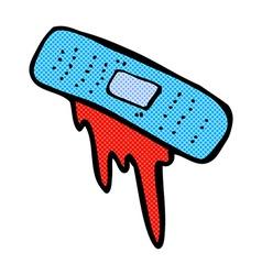 comic cartoon bloody plaster vector image vector image