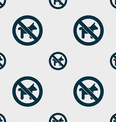 Dog walking is prohibited icon sign seamless vector