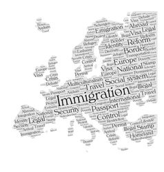 Europe immigration vector