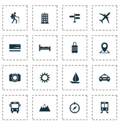 Exploration icons set collection of direction vector