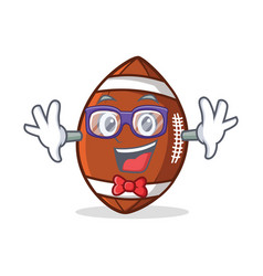 Geek american football character cartoon vector