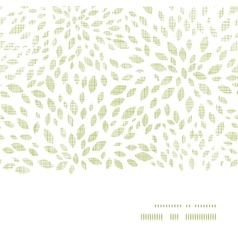 green leaves explosion textile texture horizontal vector image vector image