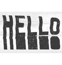 Hello glitch art typographic poster glitchy word vector
