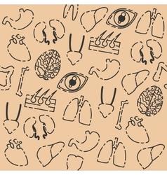 Human organs pattern vector