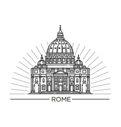 line of st peter s basilica vector image vector image