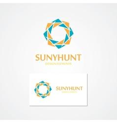 Logo with abstract sun vector