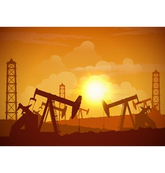 Oil field poster vector