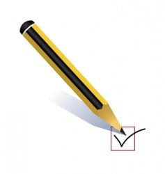 pencil voting vector image vector image