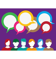 People talk background vector image vector image