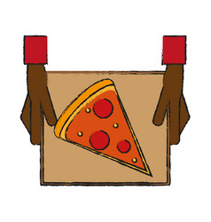 pizza draw vector image