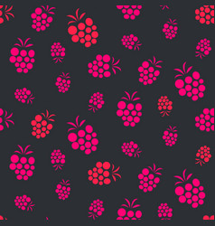 Raspberry pink on purple seamless pattern vector