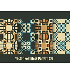 retro seamless patterns vector image vector image