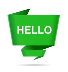 speech bubble hello design element sign symbol vector image vector image