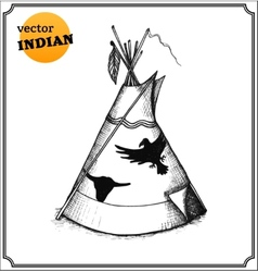 Tepee vector image vector image