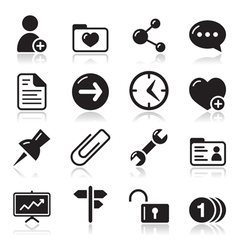 Website navigation icons set vector image vector image
