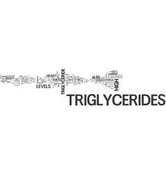What s up with my triglycerides text word cloud vector