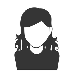 woman girl female hair person face head icon vector image