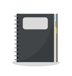 Isolated notebook with label design vector