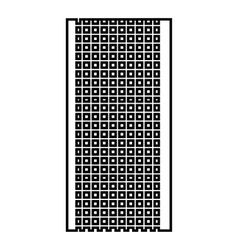 Decorative building grid icon cartoon style vector