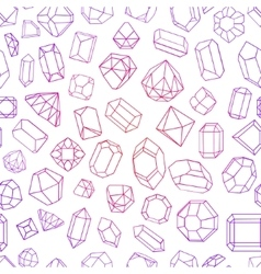 Seamless pattern with diamond gemstones and vector