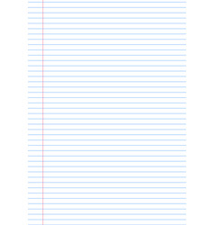 Notebook paper background template with vector