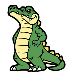 crocodile cartoon character vector image