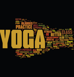 Yoga weight loss text background word cloud vector
