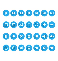 Set of audio and video symbols vector