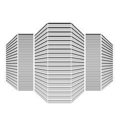 Multi storey building vector