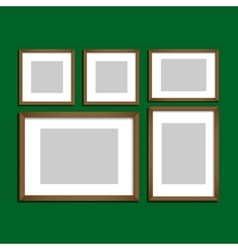 Photo frames set vector