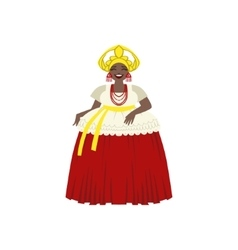 Brazilian woman in national costume vector