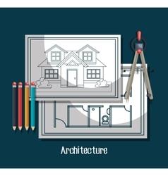 architecture project design vector image
