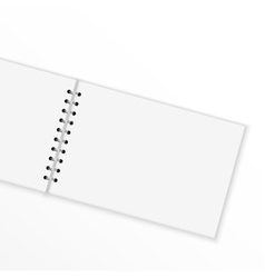 Blank notebook with blank place for text and notes vector image vector image