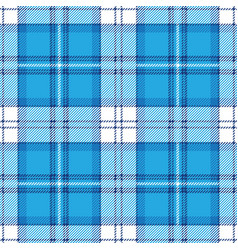 blue tartan plaid seamless pattern vector image vector image
