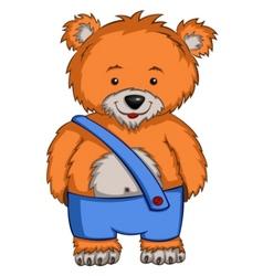 cartoon bear vector image vector image