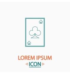 Clubs card computer symbol vector