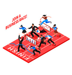 competition business composition vector image vector image