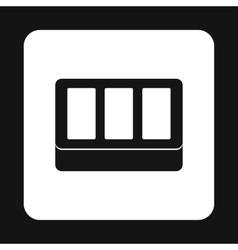 Concrete brick icon simple style vector