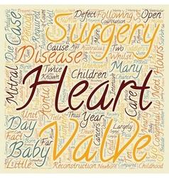 Congenital Heart Disease Open Heart Surgery For vector image vector image