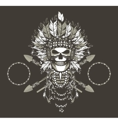 Dead chief badge vector