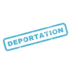 Deportation rubber stamp vector