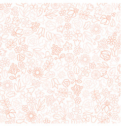 Floral seamless pattern flower icon gentle vector