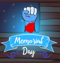 Hand draw memorial day design style vector
