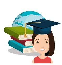 happy person graduating design vector image